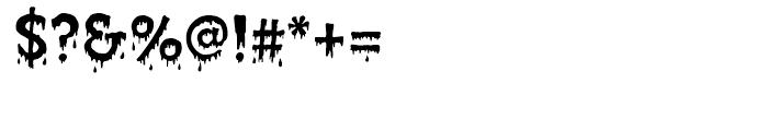 Creepy Regular Font OTHER CHARS