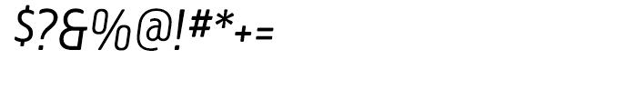 Creighton Light Italic Font OTHER CHARS