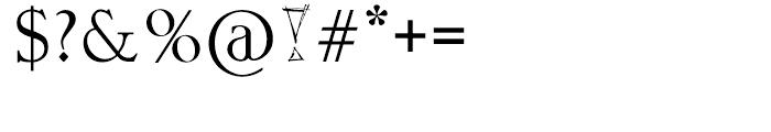 Crescent Regular Font OTHER CHARS