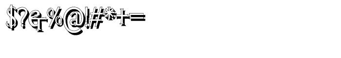 Cresciesco Shadow Font OTHER CHARS