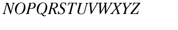 Criterion Italic Font UPPERCASE