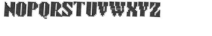 Cross Stitch BRAZEN Font UPPERCASE