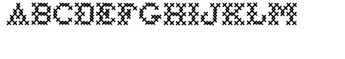 Cross Stitch Basic Font UPPERCASE