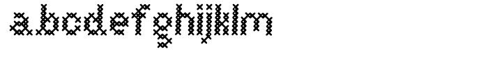 Cross Stitch Basic Font LOWERCASE