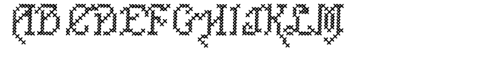Cross Stitch CAREFREE Font UPPERCASE