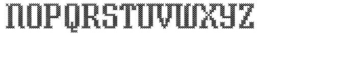 Cross Stitch Classic Font UPPERCASE