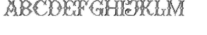 Cross Stitch Formal Font UPPERCASE