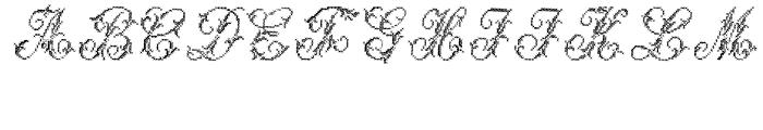 Cross Stitch MAJESTIC Font UPPERCASE