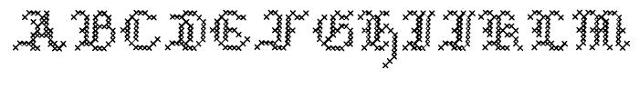 Cross Stitch MEDIAEVAL Font UPPERCASE