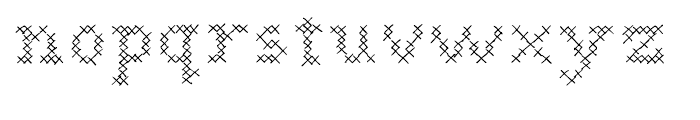 Cross Stitch Regular Font LOWERCASE