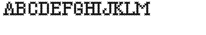 Cross Stitch Simple Font UPPERCASE