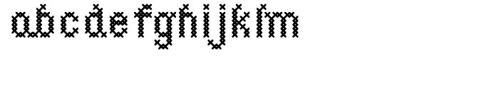 Cross Stitch Simple Font LOWERCASE