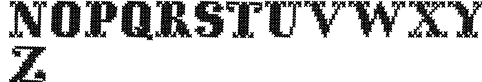 Cross Stitch Solid Font UPPERCASE