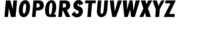 Crossell Black Italic Font UPPERCASE