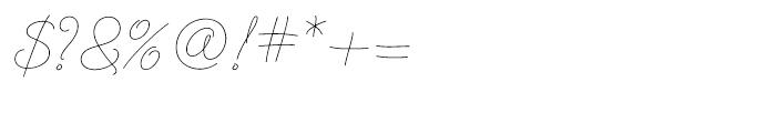 Cruz Script Ballpoint Font OTHER CHARS