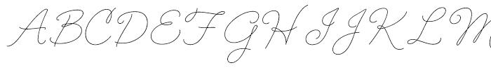 Cruz Script Ballpoint Font UPPERCASE