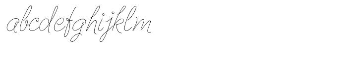 Cruz Script Ballpoint Font LOWERCASE