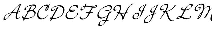 Cruz Script Calligraphic Font UPPERCASE