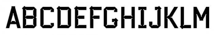 Cranked Pipe 2D Bold Font UPPERCASE