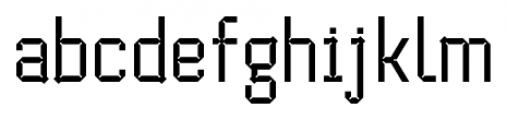 Cranked Pipe 2D Regular Font LOWERCASE