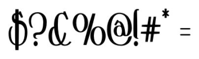 Crewekerne Magna Condensed Bold Font OTHER CHARS