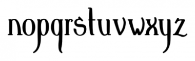 Crewekerne Magna Condensed Bold Font LOWERCASE