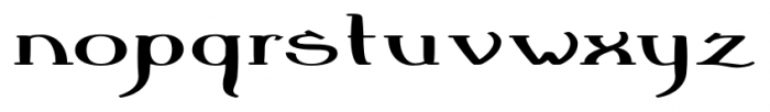 Crewekerne Magna Expanded Bold Font LOWERCASE