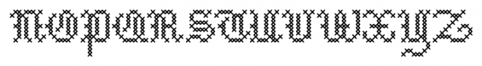Cross Stitch Medieval Font UPPERCASE