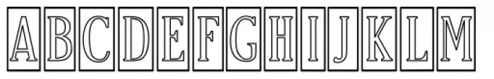 Craftsman Outline Font UPPERCASE