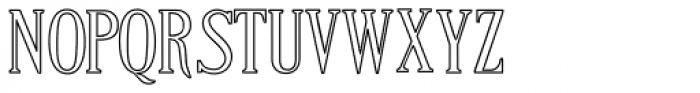 Craftsman Outline Font LOWERCASE