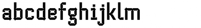 Cranked Pipe 2D Bold Font LOWERCASE