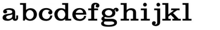 Craw Clarendon Expanded Font LOWERCASE