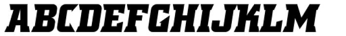 Crayfish AS Titan Bold Obl Font UPPERCASE