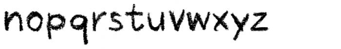 Crayon Hand Regular Font LOWERCASE