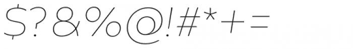 Creata Thin Italic Font OTHER CHARS