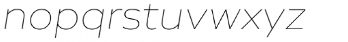 Creata Thin Italic Font LOWERCASE