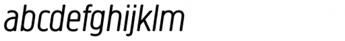Creighton Pro Light Italic Font LOWERCASE