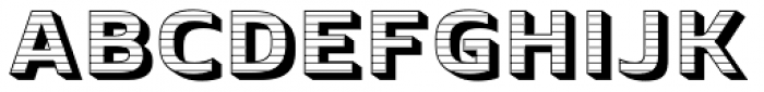 Crepes Extrude Stripe1 Font UPPERCASE