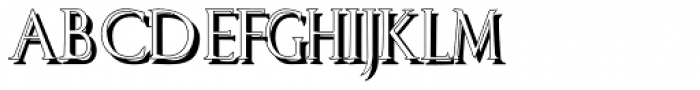 Cresciesco Shadow Font UPPERCASE