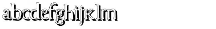 Cresciesco Shadow Font LOWERCASE