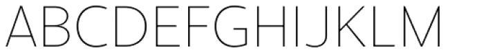 Cresta Hairline Font UPPERCASE