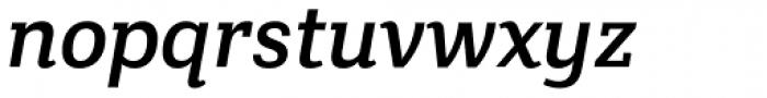 Crete Thick Italic Font LOWERCASE