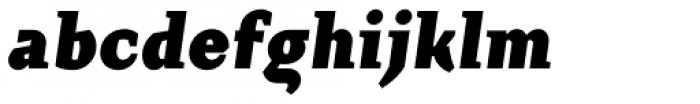 Crimsons Black Italic Font LOWERCASE