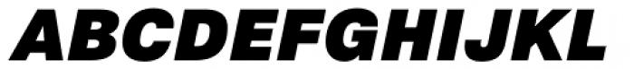 Crique Grotesk Display Black Italic Font UPPERCASE