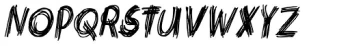 Criss Cross Condensed Italic Font UPPERCASE