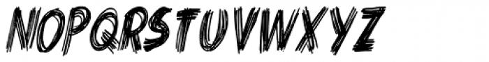 Criss Cross Condensed Italic Font LOWERCASE