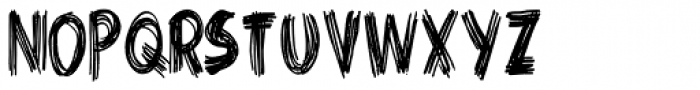 Criss Cross Condensed Font LOWERCASE