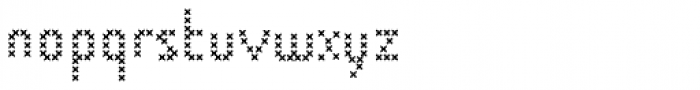 Cristal Stitches Light Font LOWERCASE