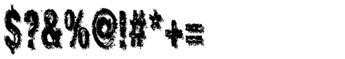 Crockstomp Condensed Font OTHER CHARS