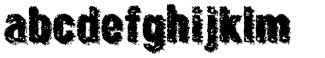 Crockstomp Expanded Font LOWERCASE